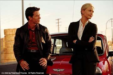 Mark Wahlberg and Charlize Theron in Paramount's The Italian Job