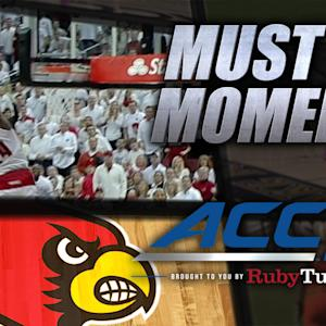 Louisville's Harrell Slams Ridiculous Alley-Oop Dunk | ACC Must See Moment