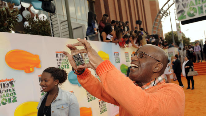 Al Roker arrives at Nickelodeon's 25th Annual Kids' Choice Awards on Saturday, March 31, 2012 in Los Angeles. (AP Photo/Chris Pizzello)