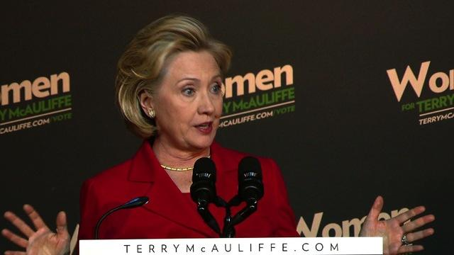 Endorsing McAuliffe, Hillary Clinton knocks D.C. dysfunction