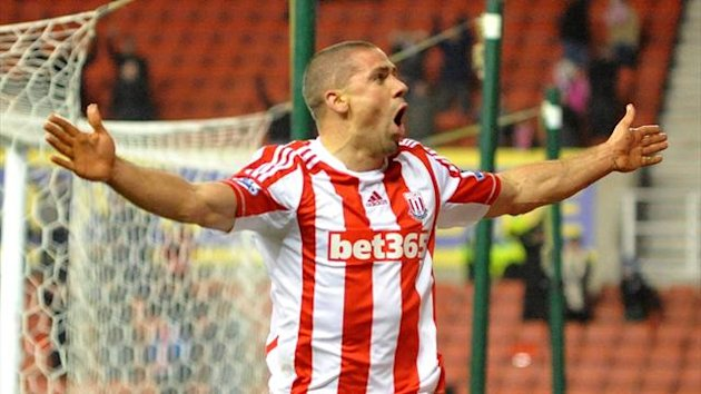 Stoke City's Jon Walters celebrates (PA Photos)