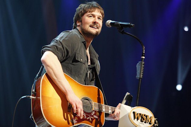 FILE - In this March 18, 2011 file photo, country singer Eric Church performs at the Grand Ole Opry in Nashville, Tenn. Church is the top nominee with seven nominations at the upcoming 48th annual Academy of Country Music Awards. The show will broadcast live on CBS from the MGM Grand Garden Arena in Las Vegas on Sunday, April, 8, 2013. (AP Photo/Ed Rode, File)