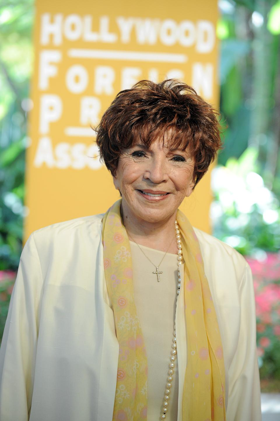 HFPA President Dr. Aida Takla-O Reilly attends the Hollywood Foreign Press Association luncheon at the Beverly Hills Hotel on Thursday, Aug. 9, 2012, in Beverly Hills, Calif. (Photo by Jordan Strauss/Invision/AP)