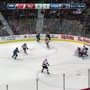 Cory Schneider Save on Chris Higgins (04:18/2nd)