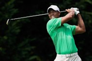 Tiger Woods during round three of the AT&T National on June 30. Woods, who carded a four-under 67, is tied with first-round leader Bo Van Pelt (67) and South Korea's Noh Seung-yul (69)