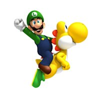 "Luigi as he appeared in ""New Super Mario Bros."" on the Wii"