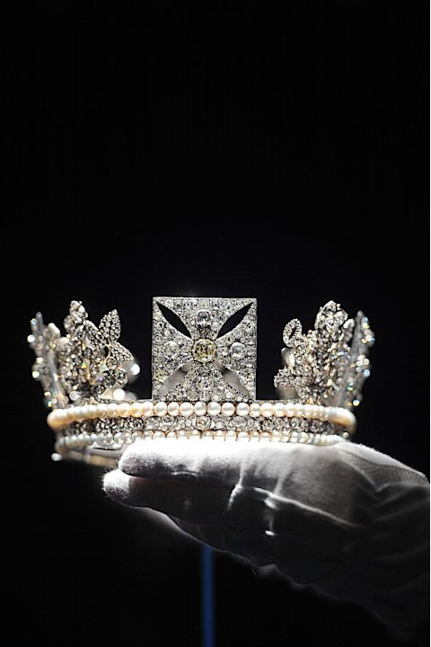 Press Preview Of Diamonds Exhibition At Buckingham Palace To Celebrate The Queen's Diamond Jubilee
