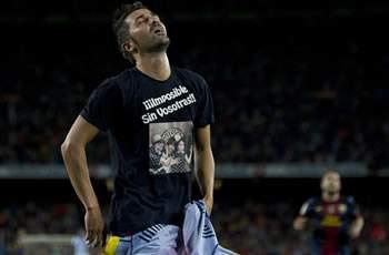 Barcelona's Villa slapped with fine for T-shirt message in rout of Real Sociedad