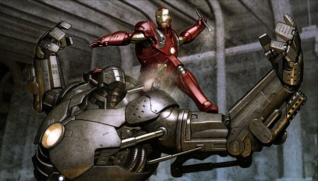 Iron Man Design Art Paramount Pictures 2008