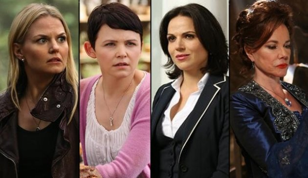 Jennifer Morrison as Emma, Ginnifer Goodwin as Snow, Lana Parrilla as Regina and Barbara Hershey as Cora -- ABC