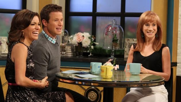 Kit Hoover and Billy Bush chat with Kathy Griffin on Access Hollywood Live on April 19, 2012 -- Access Hollywood