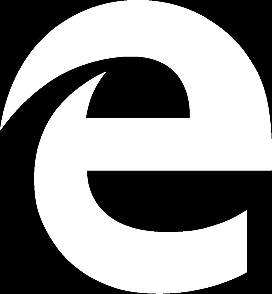 What is hiding in the negative space of Microsoft's new Edge browser logo?