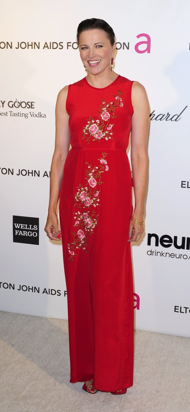 Actress Lawless arrives at the 2013 Elton John AIDS Foundation Oscar Party in West Hollywood