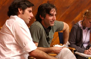 Producer Chris Weitz and writer/director Paul Weitz on the set of Universal Pictures' In Good Company