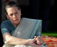 "Sonia Gandhi pays her respects at Mahatma Gandhi's memorial in New Delhi, on October 2, 2011. The Italian-born head of India's ruling party has accused Rome of an unacceptable ""betrayal"" as she waded into a bitter dispute over two marines who have skipped bail"