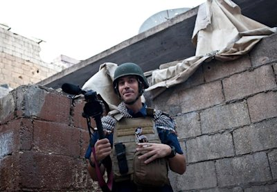 CLICK IMAGE for slideshow: Picture taken on November 5, 2012 in Aleppo, northern Syria shows US freelance reporter James Foley who was kidnapped later that month. (AFP Photo/Nicole Tung)