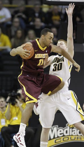 Iowa tops Minnesota 63-59