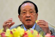 Cambodian Foreign Minister Hor Namhong speaks to media during a press conference at the Peace Palace in Phnom Penh. Southeast Asian nations on Friday vowed to work towards a &quot;code of conduct&quot; in the disputed South China Sea, but failed to fully mend a rift that marred a regional meeting last week