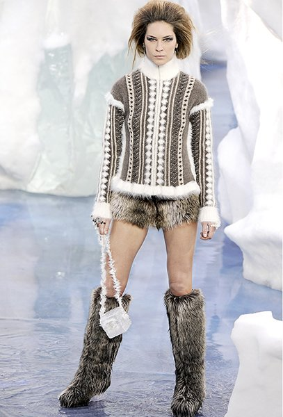 Chanel Fur Shorts