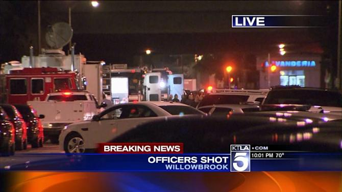 Officers Shot During Probation Search in South L.A.