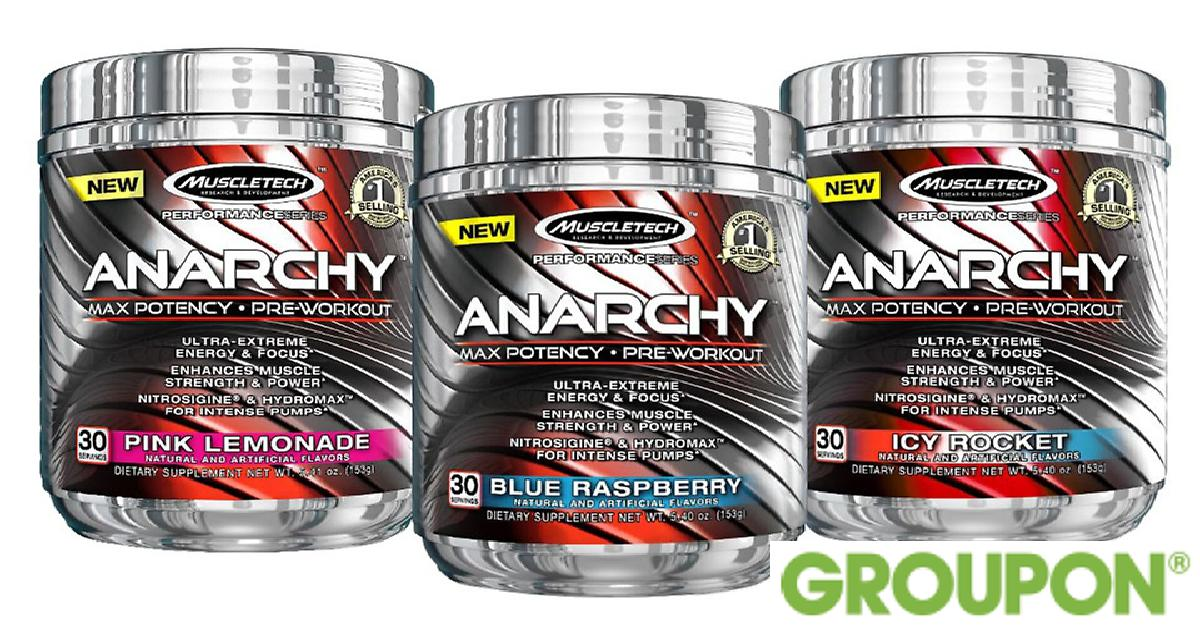 MuscleTech Anarchy Pre-Workout for $34.99