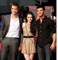 Robert Pattinson, Kristen Stewart and Taylor Lautner