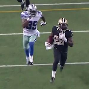 New Orleans Saints running back Khiry Robinson 62-yard run
