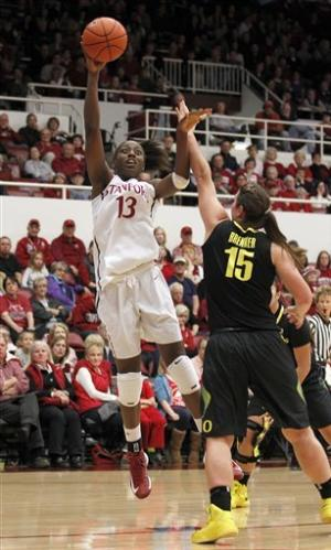 Ogwumike lifts Stanford women over Oregon