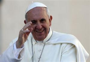 File photo of Pope Francis arriving to lead his Wednesday general audience at the Vatican