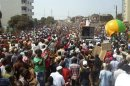 Anti-government demonstrators protest in Conakry