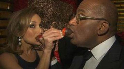 Al, Giada Live It up at Golden Globes Party