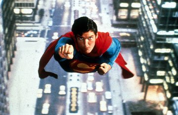 Christopher Reeve in Warner Brothers' Superman: The Movie