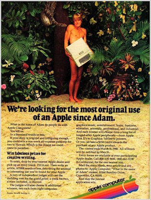 The Apple Guide to Logo Design image adam apple advert vintage