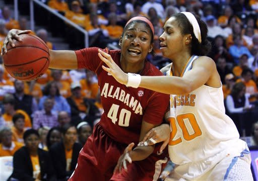 No. 9 Tennessee breezes past Alabama 96-69