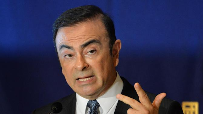 CEO of Nissan-Renault Carlos Ghosn delivers a speech in Tokyo on July 17, 2014