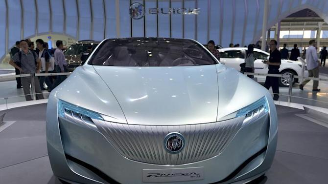 A Buick Riviera Concept car is seen at the Guangzhou International Automobile Exhibition