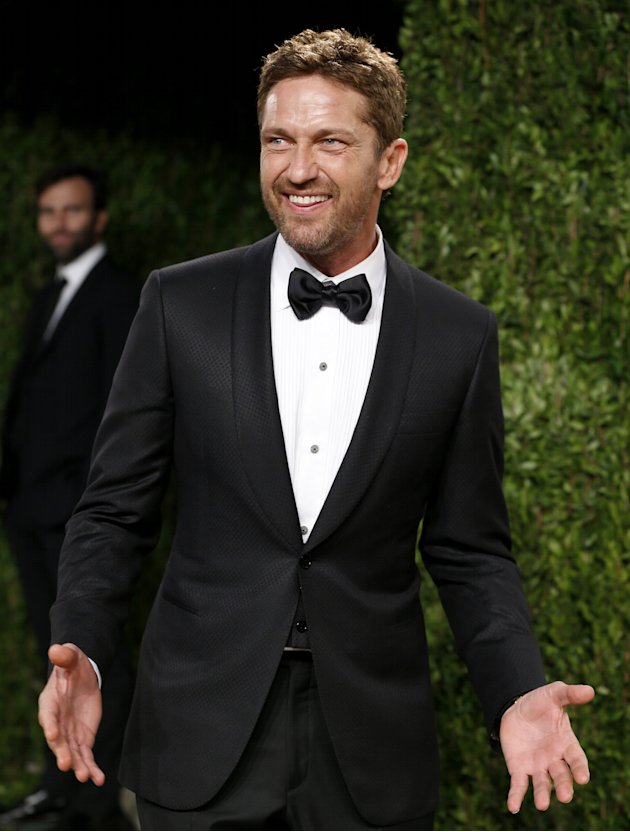 Actor Gerard Butler arrives to the 2013 Vanity Fair Oscars Party in West Hollywood