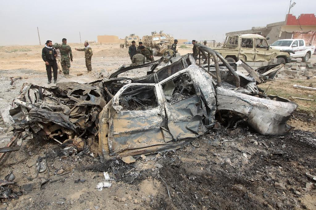 Strike levels huge Iraq car bomb factory in blow to IS
