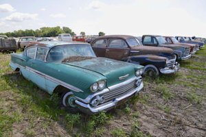 In this Aug. 12, 2013 photo, a 1958 Chevrolet Biscayne …
