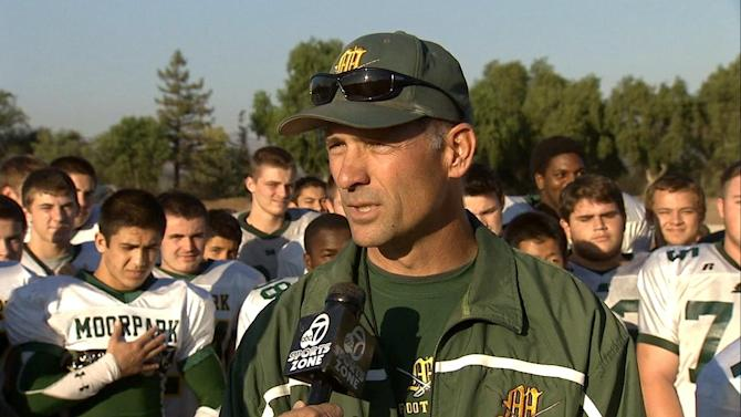 Moorpark High's Tim Lins is the ABC7 NFL High School Coach of the Week