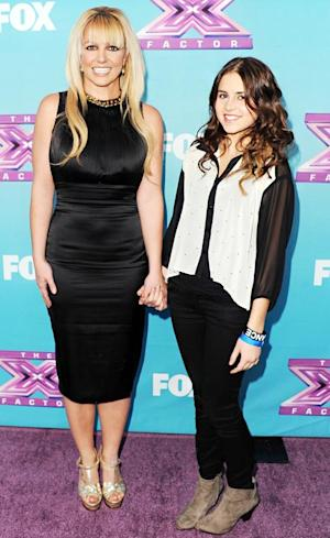 Britney Spears Wears Sophisticated Black Dress at X Factor Press Conference