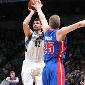 T'Wolves Edge The Pistons