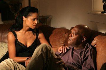 Victoria Rowell and Samuel L. Jackson in MGM's Home of the Brave