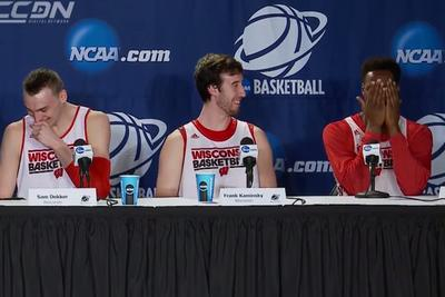 Wisconsin's Nigel Hayes accidentally reveals his secret crush to a whole press conference