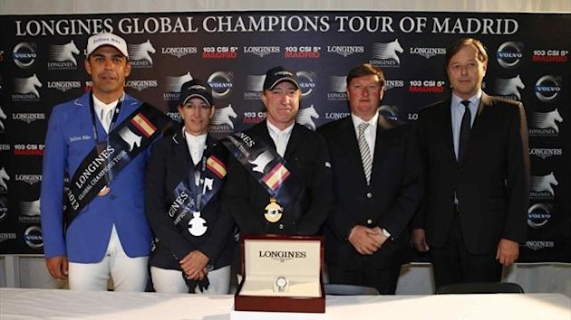 Global Champions Tour podium in Madrid
