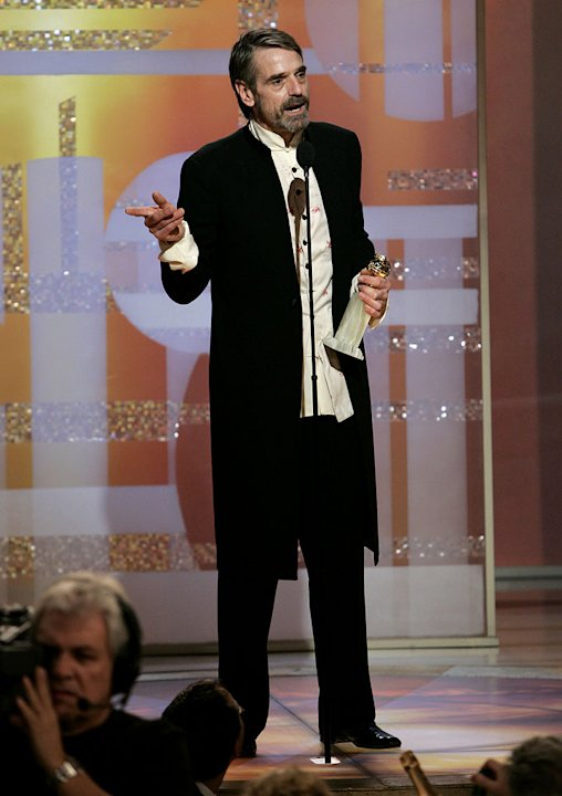 Jeremy Irons at the 64th annual Golden Globe Awards.