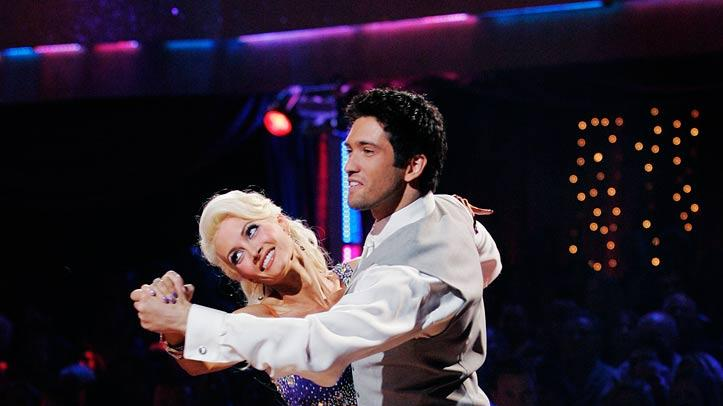 "Holly Madison and Dmitry Chaplin perform the Quickstep to ""We Are in Love by Harry Connick, Jr on ""Dancing with the Stars."""