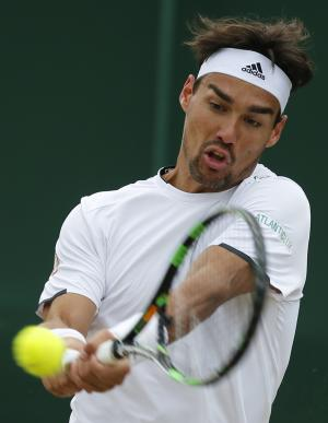 Defending champ Fognini advances at Stuttgart