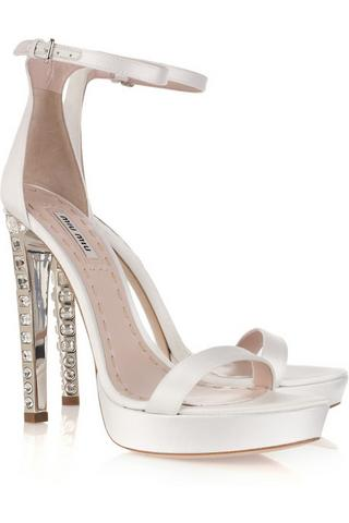 Miu Miu crystal sandals, $895, at Net-a-Porter