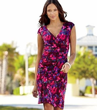 American Living Mock Wrap Dress, $53.99